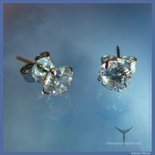 Diamant-Ohrstecker kristallklar