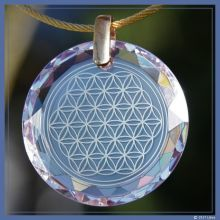 Blume des Lebens-Medaillon diamant