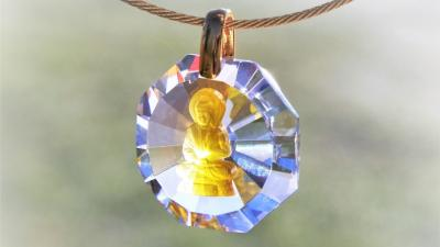 Light Crystal of the month: Buddha Pendant